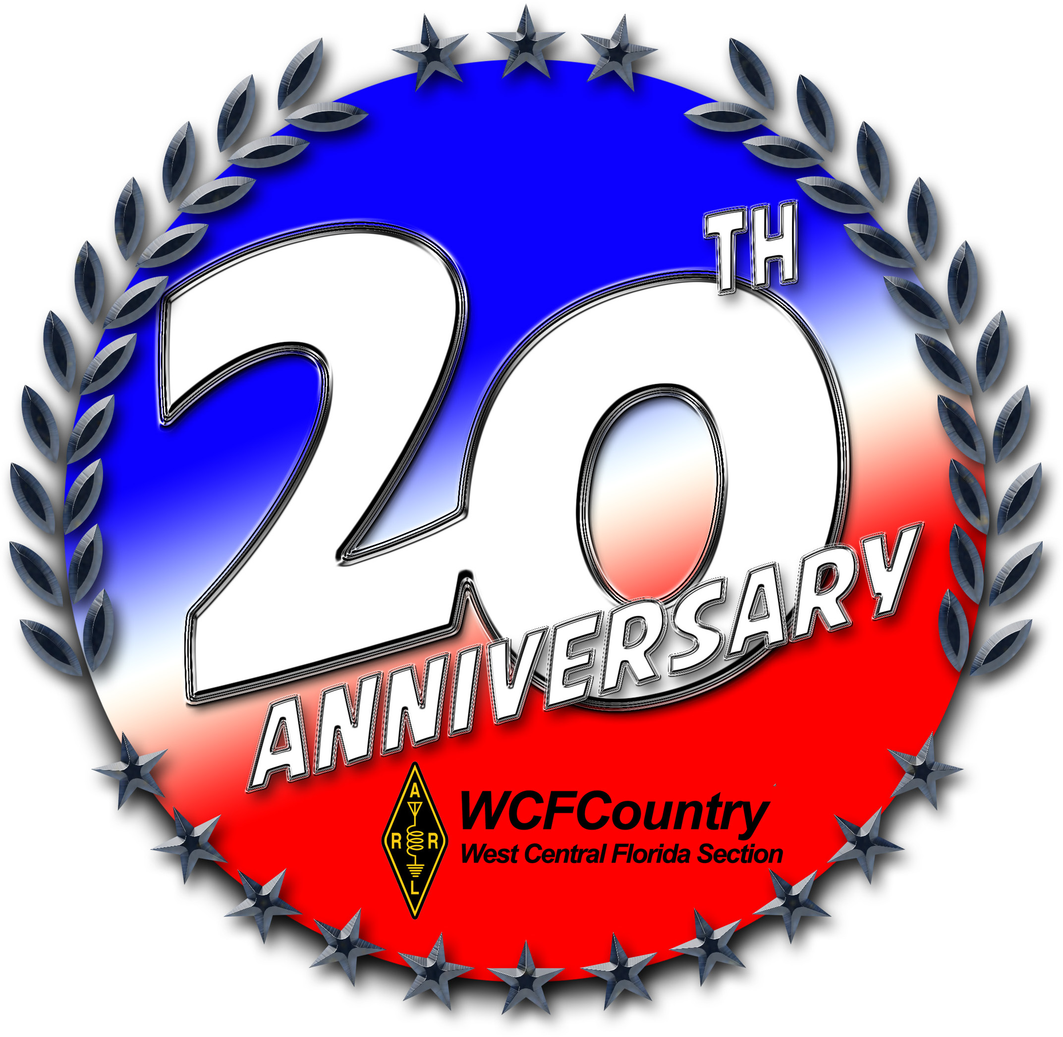 ARRL West Central Florida Section 20th Anniversary Logo
